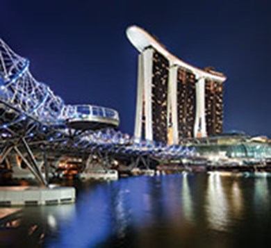 Marina Bay Sands, in Singapore, is a MICE-led, integrated resort that includes gaming